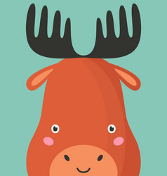 cute moose snout flat vector image