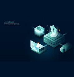 data analytics internet security concept vector image
