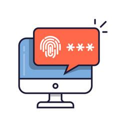 Desktop computer with unlocked via fingerprint vector