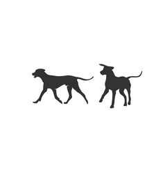 dogs silhouette designs vector image