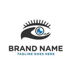 eye health logo design vector image