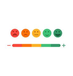 Feedback and level satisfaction customer vector