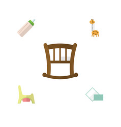 flat icon infant set of toy napkin toilet and vector image