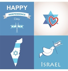 Four icons of Israel vector