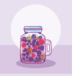 fruits mason jar vector image