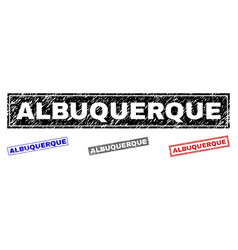 Grunge albuquerque textured rectangle watermarks vector