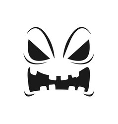 Halloween pumpkin face icon scary emoji vector