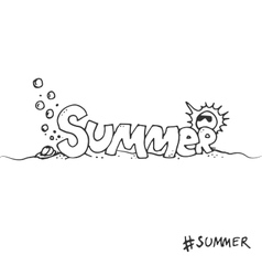 Hand drawn graphical lettering summer vector image