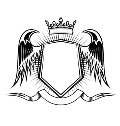 heraldry design vector image
