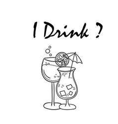 i drink juice background image vector image