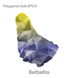 Isolated icon barbados map polygonal geometric vector