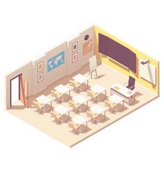 Isometric school classroom vector