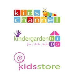 Kids Places Logo Template vector