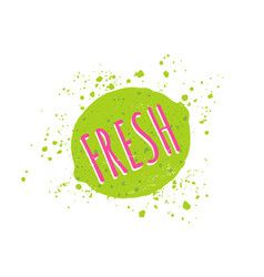 Lime with text fresh vector