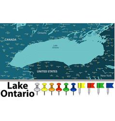 map lake ontario vector image