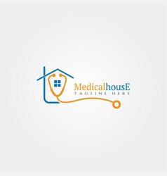 Medical house icon template creative logo design vector