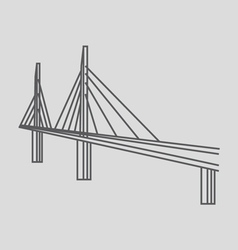 Millau Bridge France vector image
