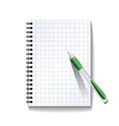 Notebook with a pen vector
