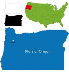 Oregon map vector