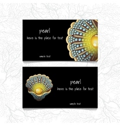 Pearl design horizontal business card name card vector