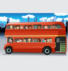 people in a bus vector image
