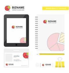 Pie chart business logo tab app diary pvc vector
