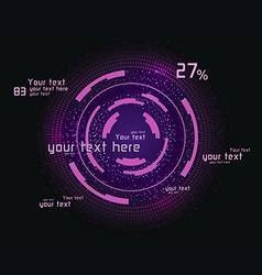 Pink infographics as head-up display vector