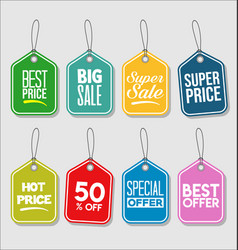 price tag modern colorful collection vector image