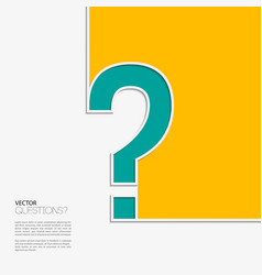 Question mark icon in flat design vector