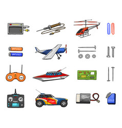 rc transport remote control models toys or vector image
