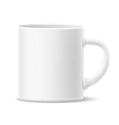 realistic ceramic mug mockup blank cup vector image