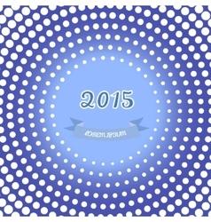 retro happy new year card 2015 vector image