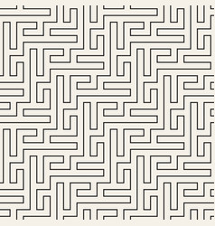 Seamless geometric pattern irregular linear grid vector