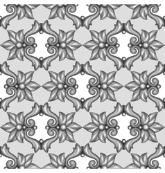 Seamless pattern with baroque ornamental floral vector