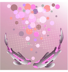 Set with fish vector