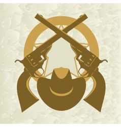 Sheriffs badge-4 vector image