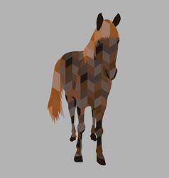 Silhouette a running horse vector