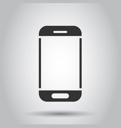 smartphone icon in flat style phone handset on vector image