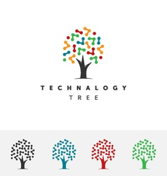 Technology Tree Logo vector image