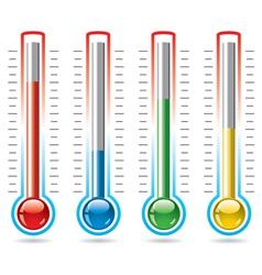 thermometers vector image