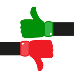 thumbs up down hand vector image