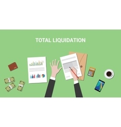 total liquidation concept with vector image