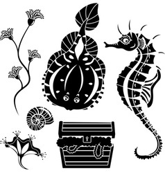 Underwater stencil vector