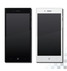 white and black phone vector image