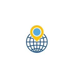 world logistic logo icon design vector image