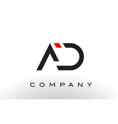 ad logo letter design vector image vector image