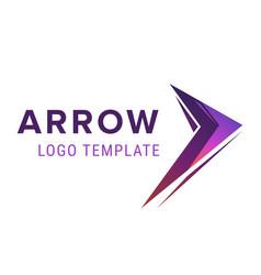 arrow logo template abstract business logo icon vector image vector image