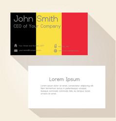 belgium flag color business card design eps10 vector image
