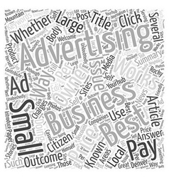 Best Advertising For Small Business Word Cloud vector image