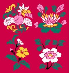 Floral emblem set vector
